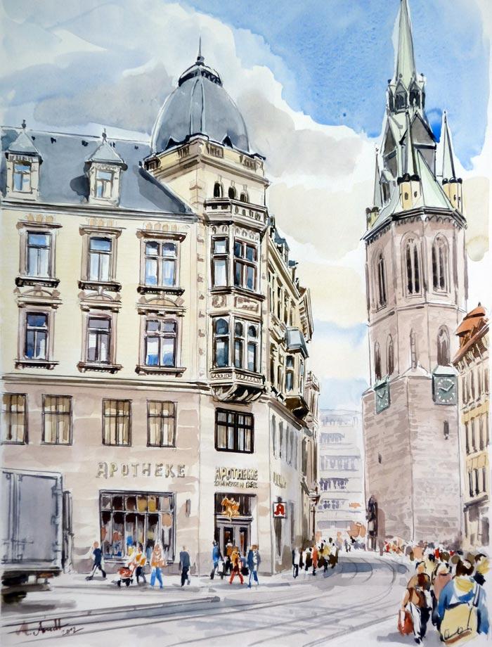 Bildergalerie von marcel arndt bildergalerie for Architektur aquarell